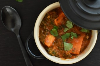 Duurzame vegetarische stoofschotel