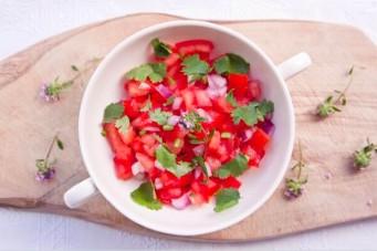 Tomatensalsa a la Langste Vegetarische Tafel