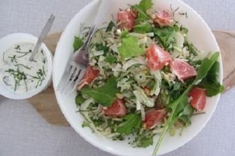 Raapstelensalade met grapefruit