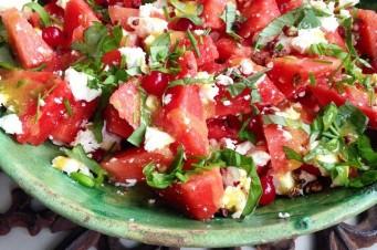 Jacinta's salade met watermeloen en feta
