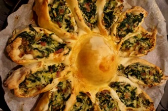 Spinazie bloem quiche